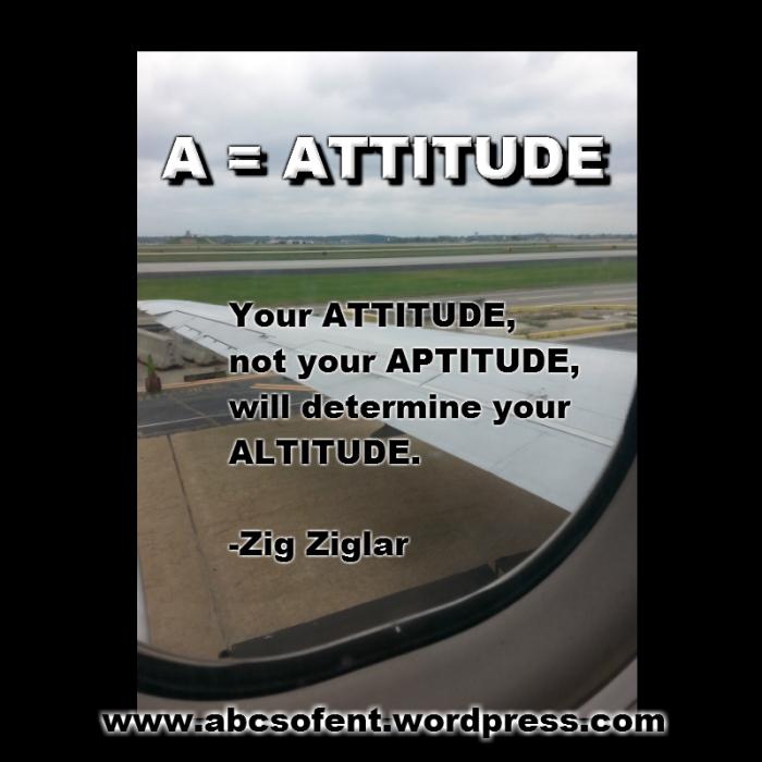 A = ATTITUDE