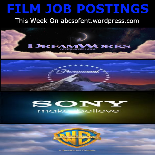 Film Job Postings This Week
