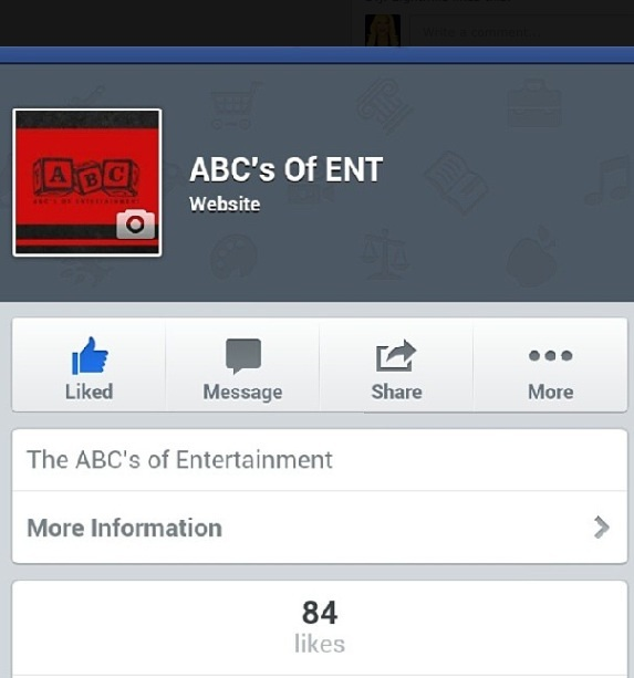 Like ABC's of Entertainment on Facebook